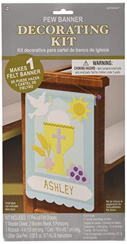 Amscan First Communion Pew Banner Craft Kit, 14 X 9 Felt Multicolor -