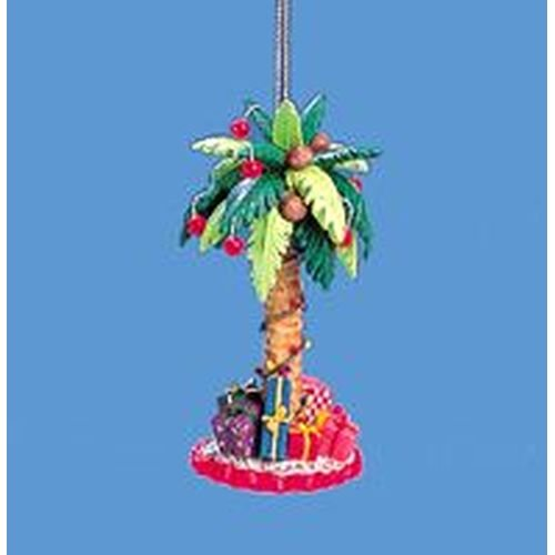 - RESIN PALM TREE W/GIFTS ORNAMENT - Christmas Ornament