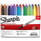 Sharpie Permanent Markers, Fine Point, Assorted Colors, 24 Count 2-Pack