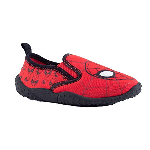 Spiderman Slip On Water Shoes Red Toddler/Little Kid (Large M) ()