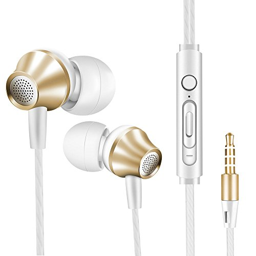 Ear Buds with Mic, Headphones Earbuds - Audifonos Vastland 3.5mm Jack Earphones, Extra Bass Wired Earbud with Microphone Compatible with Samsung Galaxy S9 S8 S7 S6 S5 Note Edge and More Cell Phones