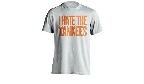 I Hate la Yankees – New York Mets camiseta de ventilador – diseño de texto – carne de vacuno camisas, XXX-Large, Blanco: Amazon.es: Deportes y aire libre