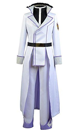 LYLAS Men's White Uniform Halloween Cospaly Costume (Custom made) (White Van Halloween Costume)