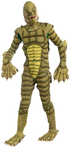 Creature Of The Black Lagoon Costumes (Forum Novelties Men's Universal Monsters Creature From The Black Lagoon Collector's Edition Costume Mask, Green, One Size)