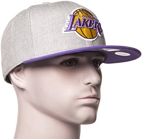 Gorra New Era: 59Fifty Heather Pop L.A. Lakers GR/PP 7: Amazon.es ...