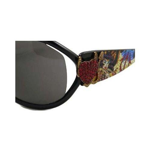 Ed Hardy EHS-048 Pinup Devil Women's Designer Sunglasses - (Ed Hardy Black Sunglasses)
