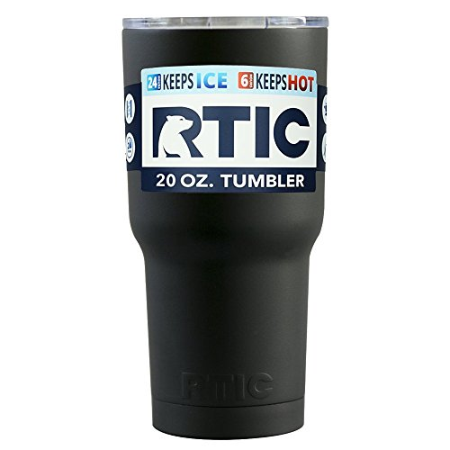 RTIC Black Matte 20 oz Stainless Steel Tumbler Cup