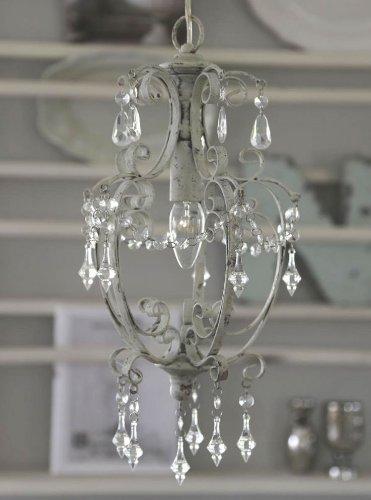 chic antique kronleuchter deckenleuchte lampe antik look shabby 22x40 - Kronleuchter Antik