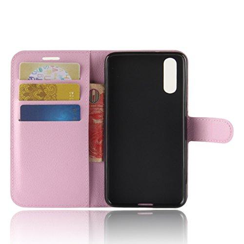 Ocolor Huawei P20 izquierda y derecha caja del teléfono billetera disponible en varios colores (Púrpura) Rosa