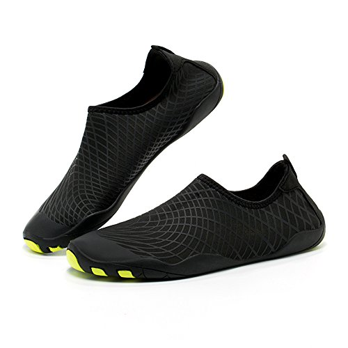 Gaatpot Water Shoes, Women Men Barefoot Water Skin Shoes Quick Dry Aqua Water Shoes With Drainage Holes For Swim Diving Beach Surf Yoga Exercise Driving Black
