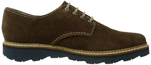 Clarks Frelan Walk - Zapatos de cordones de cuero para hombre marrón - Braun (BROWN Sde)