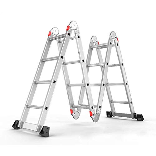 BAOFI Escalera Multiusos 7 en 1 Plegable telescópica Extensible de Aluminio Resistente, bisagras de Bloqueo de Seguridad…