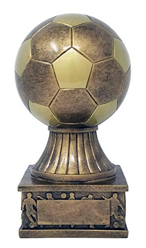 Soccer Trophies - Soccer Ball Tower Trophy ⚽ Gold Futbol Award ⚽ 7.5 Inch Tall - Free Engraved Plate on Request - Decade Awards