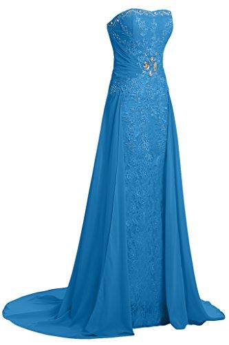 Damen Blau Abendkleid Ivydressing amp;Chiffon Taegerlos Linie A Festkelid Spitze Partykleid zwqAHTWdxq