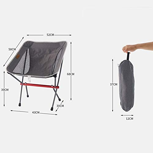 tgbvr Outdoor Folding Chair Aluminum Portable Moon Chair Camping Chair Beach Sloth Chair Director Chair