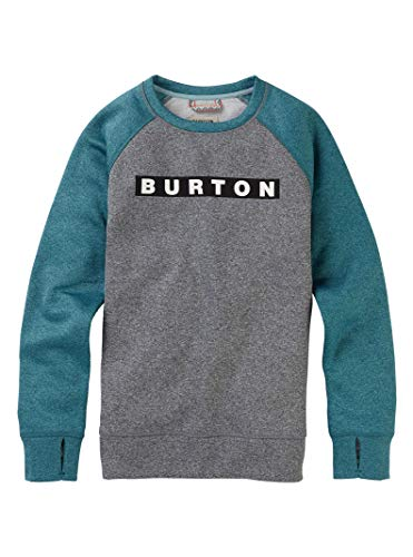Hydro Zip Hoodie - Burton Women's Oak Crew Sweatshirt, Gray Heather/Hydro Heather, Large