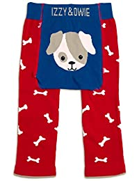 Izzie and Owie Baby Leggings (12-24 Months, Red and Blue: Puppy)