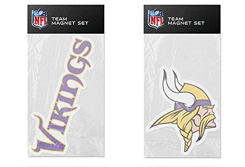 Rico Industries NFL Minnesota Vikings 2-Pack Die Cut Team Logo Magnet Set