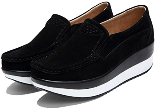 Forma Para Mujer Adulta Ups Pull On Walking Zapatos Casual Fashion Sneakers Black