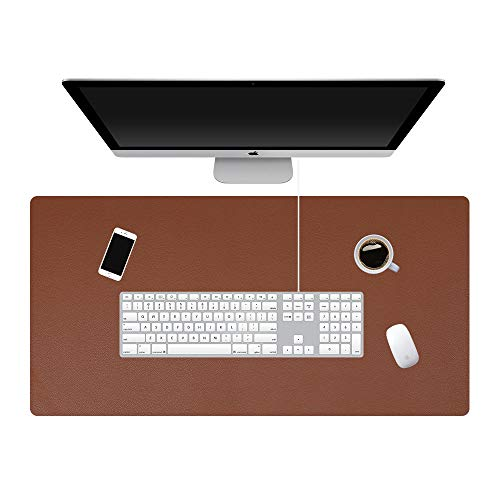 (KINGFOM Desk Pad Office Desktop Protecter, PU Leather Desk Mat Blotters Organizer with Comfortable Writing Surface (31.4