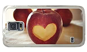 Hipster for cheap Samsung Galaxy S5 Cases Apple Heart PC Transparent for Samsung S5