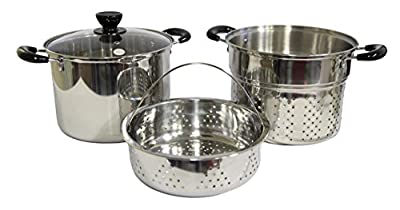 Stainless Steel 4-piece 12-quart Pasta/steamer Set