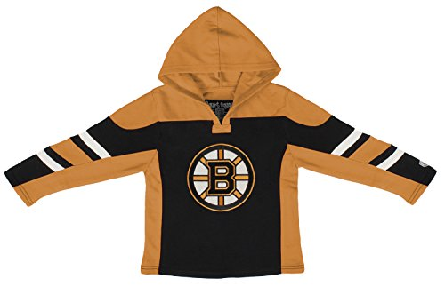 (Old Time Hockey NHL Boston Bruins Toddler Drift Pullover Hoodie, 2T, Black)