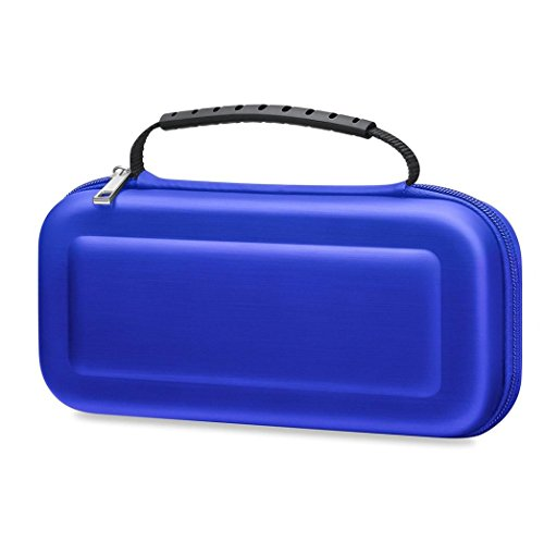 Price comparison product image EVA Bag Pouch Travel EVA Case For Nintendo Switch NS Accessories , Tuscom (Dark Blue)