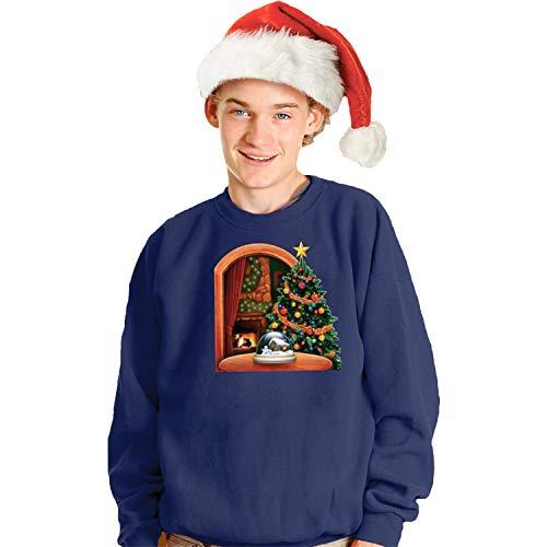 (Morphsuits Digital Dudz Christmas Tree Ugly Christmas Sweatshirt, Blue,)