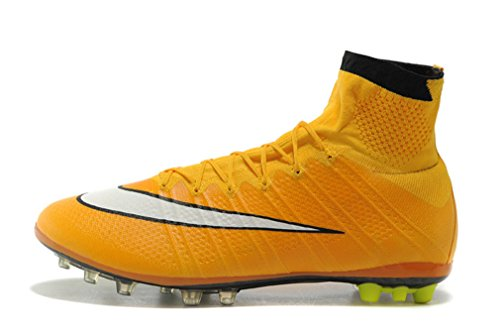 Herren Gelb Mercurial X Superfly IV AG Hi Top Fußball Schuhe Fußball Stiefel