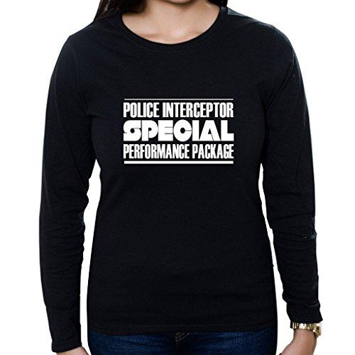 Custom Brother - Police Interceptor Special Performance Package Women's Long Sleeve Shirt Black