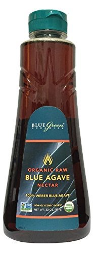 Blue Green Agave Organic Nectar, Raw Blue, 32 Ounce (2 Pack)