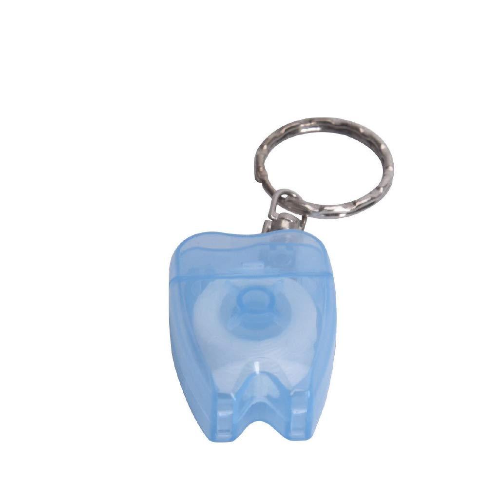 Amazon.com: Hilo dental portátil de menta con llavero para ...