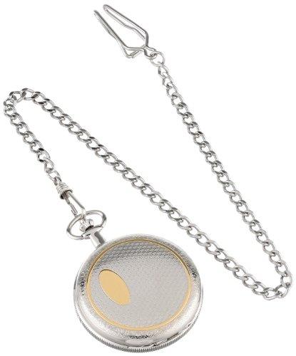 Charles-Hubert-3860-Two-Tone-Mechanical-Pocket-Watch