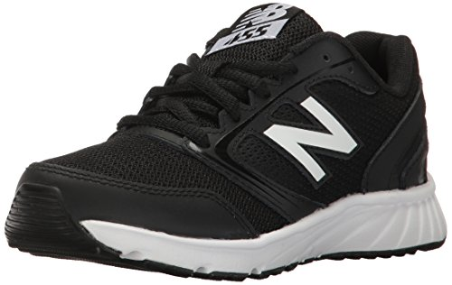 New Balance Boys' 455 Running Shoe, Black 1/White, 7 M US Big Kid (New Shoes For Boys)