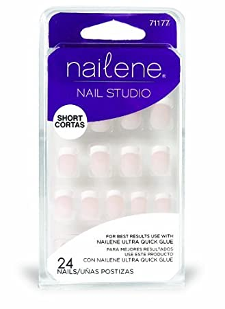 Amazon.com : Nailene Nail Studio French Nails Classic Short by Nailene : Beauty