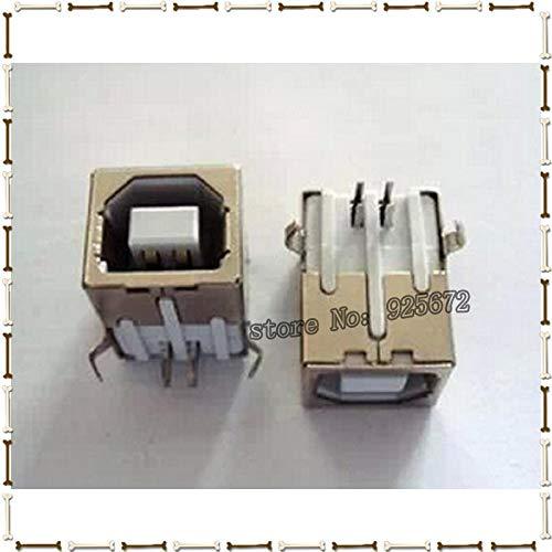 Gimax USB female head type B USB square socket connector female USB type B 90 degrees