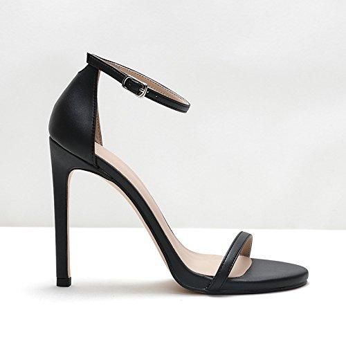 UK2 93 SHOESHAOGE De Ranurada Impermeable Zapatos con Taiwán Zapatos Sandalias Hebilla 2 Tacón Fina De EU34 Y Mujer qZgT5nwCZ