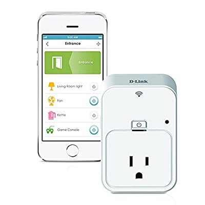 D-Link Smart Plug, Energy Monitoring, On/Off, Works with Amazon Alexa (DSP-W215)