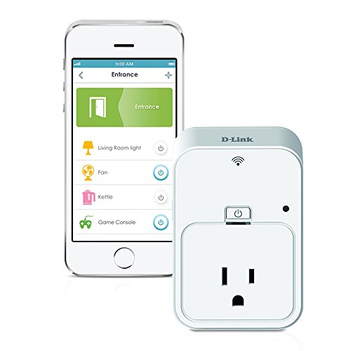 D-Link Smart Plug, Energy Monitoring, On/Off, Works with Amazon Alexa and Google Assistant (DSP-W215)