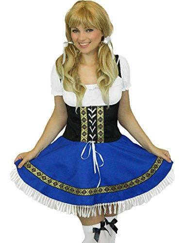 Yummy Bee Womens Oktoberfest Bavarian Beer Girl Costume White Stockings Size 16 (Bavarian Outfit)