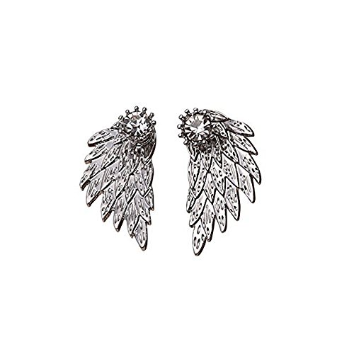 One Ring Love Marquise (Nickel Free Stainless Steel Silver Double Ball Front and Back Stud Earring,Double Sided Earring (Safe for Sensitive Ears))