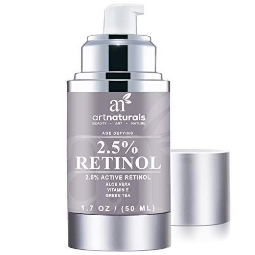 ArtNaturals Anti-Aging Retinol Cream-Moisturizer - with Hyaluronic Acid, Vitamin E, C and Aloe Vera - 1.7 Oz