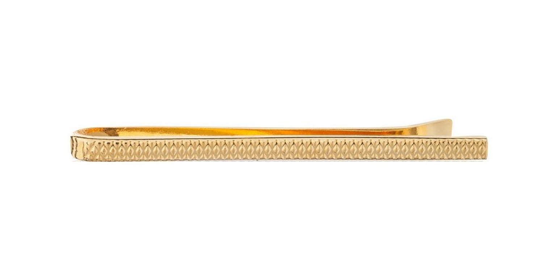 Vintage Gold Teller Krawattennadel mit Industrie Muster – 50 mm ...