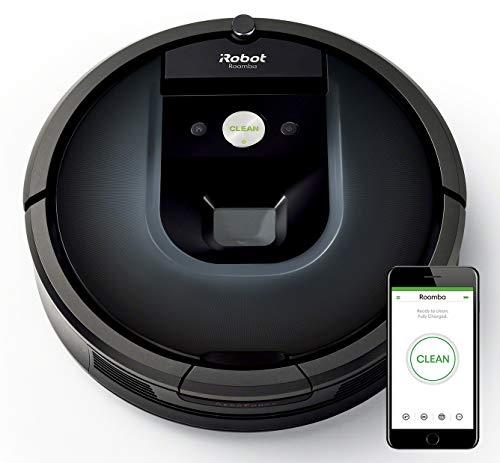 Robot aspirador iRobot Roomba 981 Alta potencia y Power Boost, Recarga y sigue limpiando, Óptimo mascotas, Cepillos…