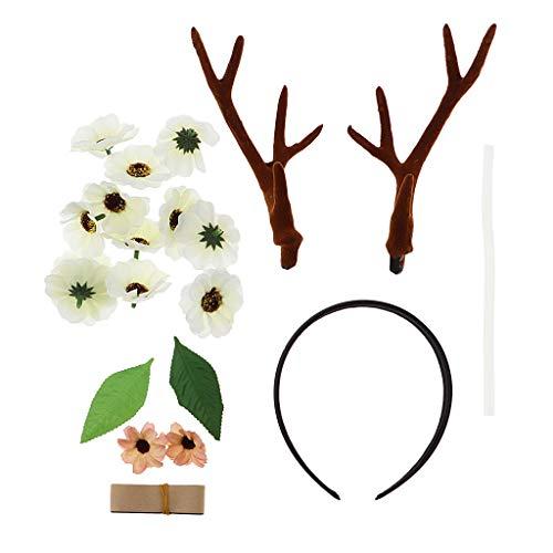 CUTICATE DIY Reindeer Antler Headband Supplies, Cute Hair Accessories Handmade Crafts Jewelry Making Material for Festival, Parties, Photo Prop]()