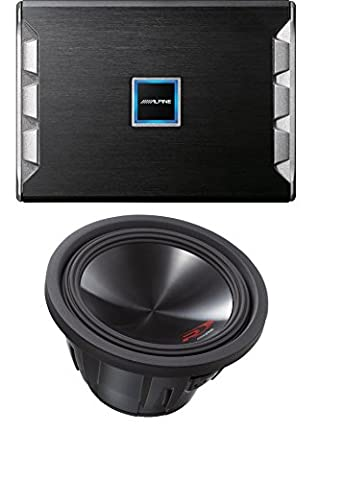 Alpine PDR-M65 Mono Digital Amplifier With Alpine SWR-12D4 Type-R 12-Inch 1000W Subwoofer with Dual 4-ohm Voice (Type R 12 Sub Box)