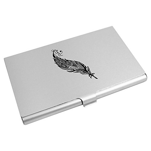 CH00005055 Azeeda Card Holder 'Decorative Credit Feather' Business Wallet Card nA7pOa4wn