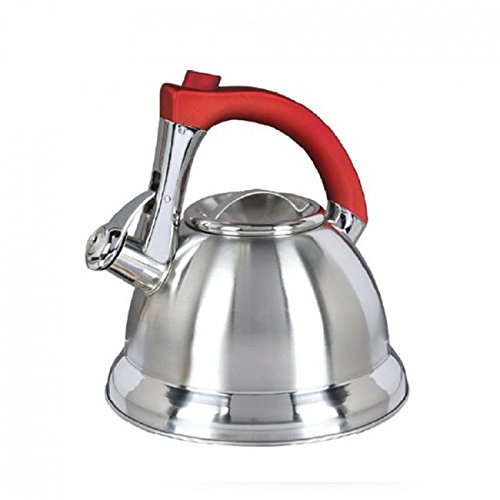 Gibson Mr. Collinsbroke 2.4qt Stainless Steel Tea Kettle ( Red Handle )