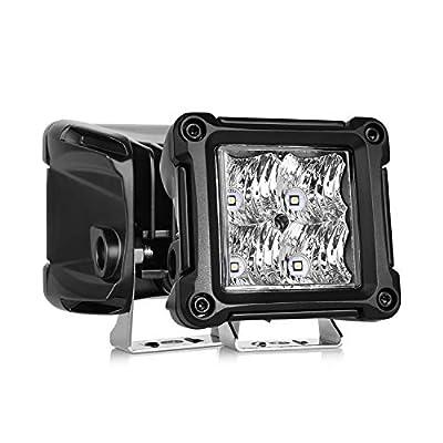 HIMA4X4 LED Light Bar 3 Inch LED Cubes 40W 3600LM Xenon White Flood Beam With Osram H9QP LED Chip LED Off Road Work Light Fog Light Tail Light Waterproof For Jeep truck ATV UTV 4X4, 2 Pack: Automotive